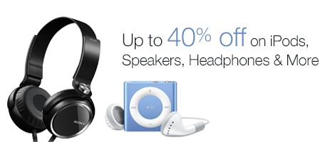 40% off on Audio & Video