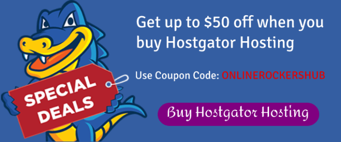 Hostgator OnlineRockersHub Coupon