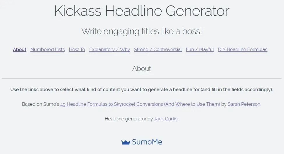 Sumome's headline generator