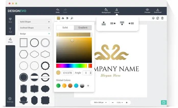 DesignEVO - Customize your Logo