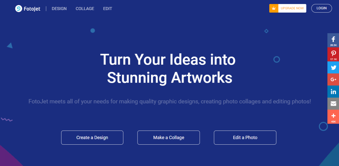 FotoJet Online Graphic Designer and Collage Maker