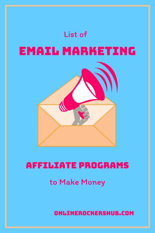 List of Email Marketing affiliate programs to make money Pinterest Image