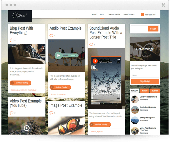 Buy Thrive Storied Theme for $49