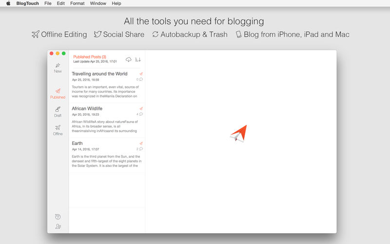 BlogTouch app for iphone, ipad and mac
