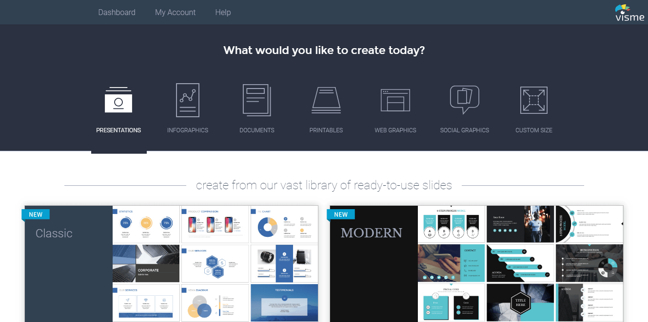 Visme Graphics Creator