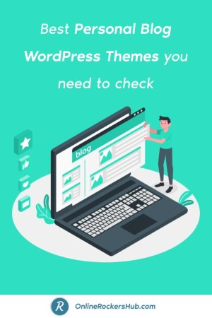 Best Personal Blog WordPress Themes you need to check - Pinterest Image