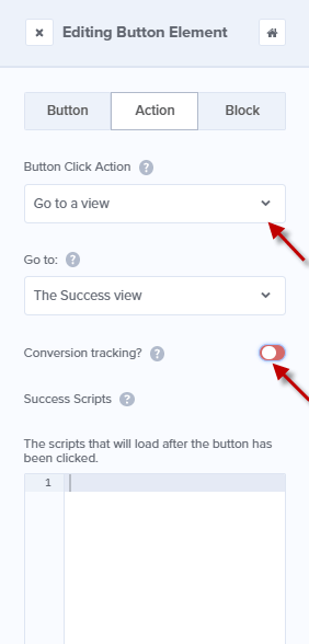 Editing Button Element in OptinMonster Campaign