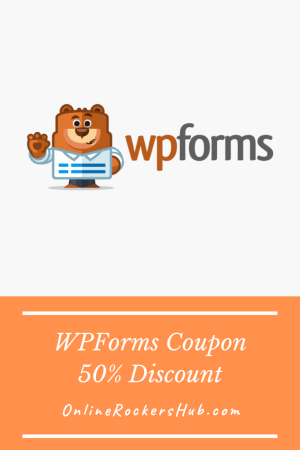 WPForms Coupon 50% Instant Discount on WPForms Premium! - Pinterest Image