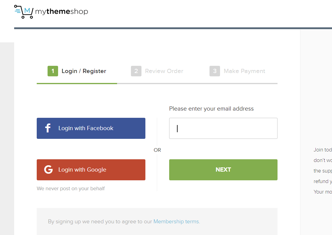 login mythemeshop