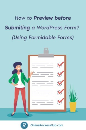 How to Preview before Submiting a WordPress Form_ (Using Formidable Forms) - Pinterest Image