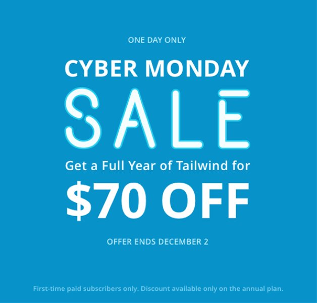 Tailwind - Cyber Monday Sale Banner