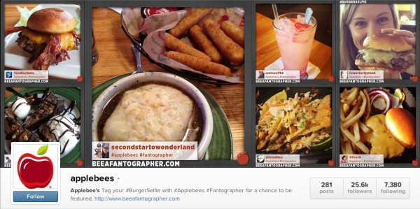 Diners are encouraged to tag their photos #Fantographer to be featured on the official Applebee