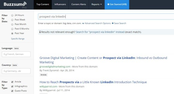 Find targeted lead generation ideas with BuzzSumo