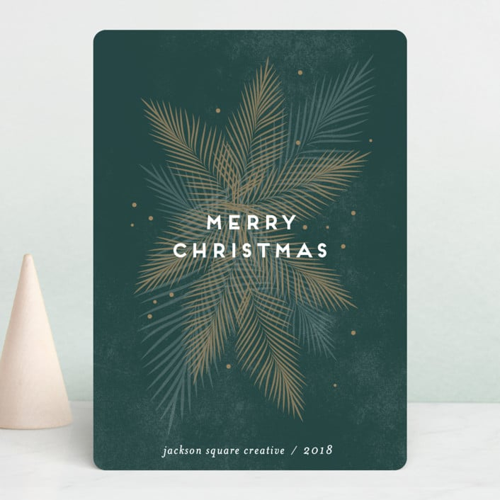 business christmas card from minted