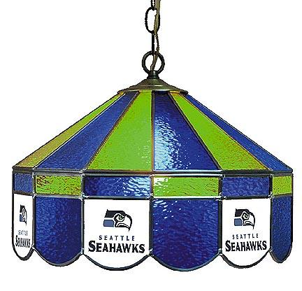 """Seattle Seahawks NFL Licensed 16"""" Diameter Stained Glass Lamp from Imperial International"""