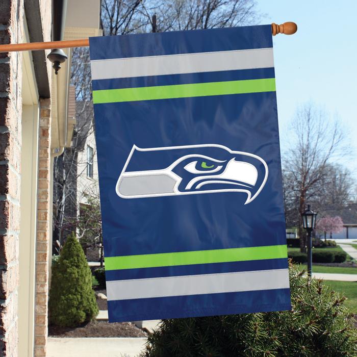 Seattle Seahawks NFL Applique Banner Flag