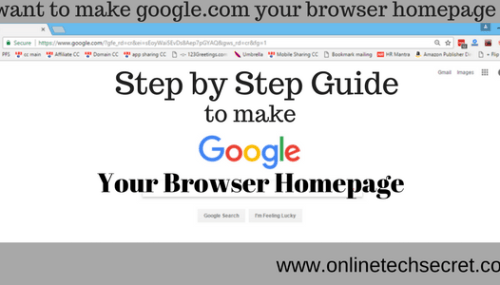 How to Make Google your Homepage – Step by Step Guide