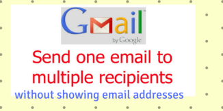How to send one email to multiple recipients without showing mail addresses?
