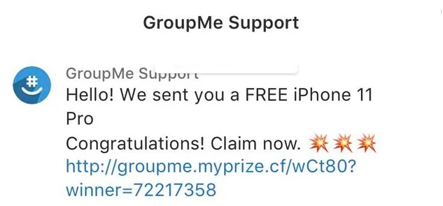 Groupme Free iPhone Scam -  Group me iPad Giveaway Scam