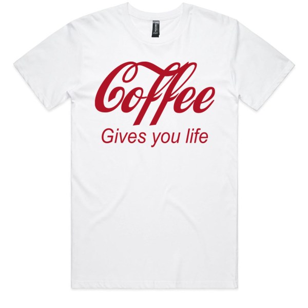Coffee Gives You Life Men White T Shirt