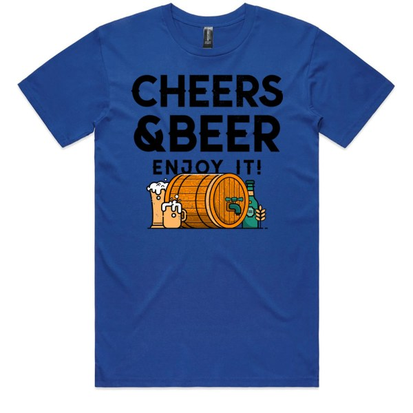 Cheers and Beers Men Royal T Shirts