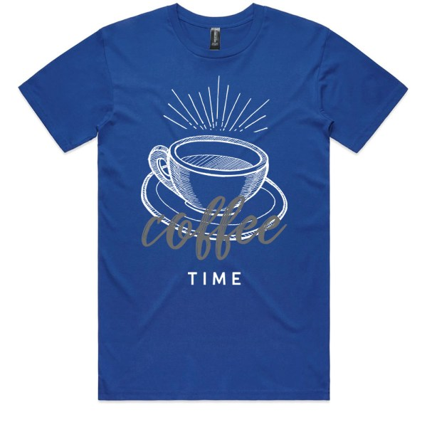 Coffee Time Men Royal T Shirts