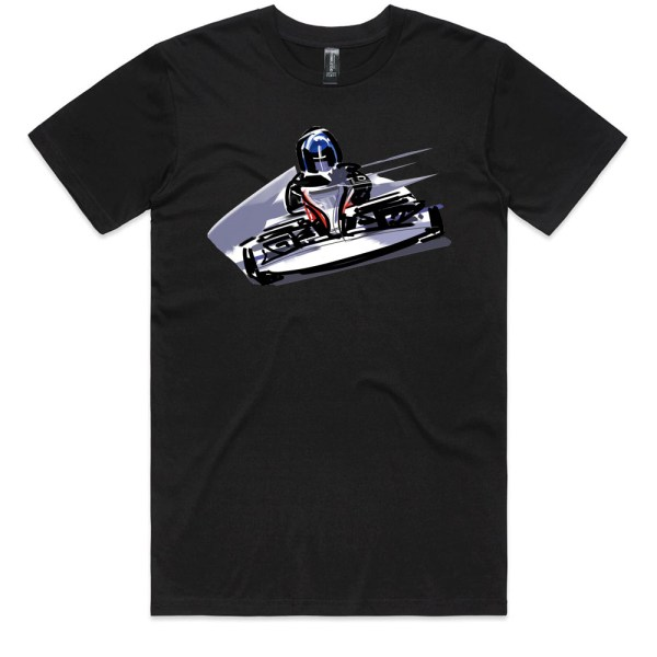Go Cart Men Black T Shirts