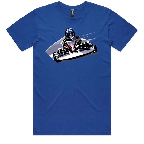 Go Cart Men Royal T Shirts