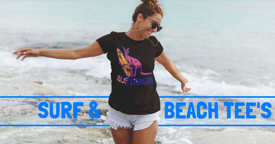 Online T Shirts Surf and Beach Tee's
