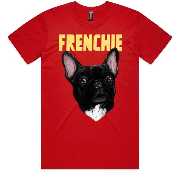 Frenchie Men Red T Shirts