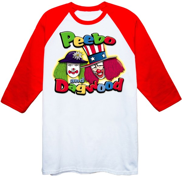 Peebo & Dagwood Men Raglan White-Red T Shirts