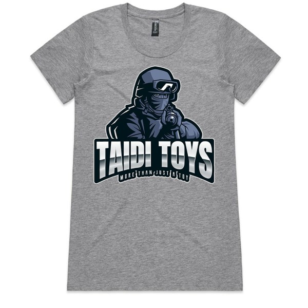 TAIDI More Than Just a Toy SOLDIER Ladies Grey T Shirts