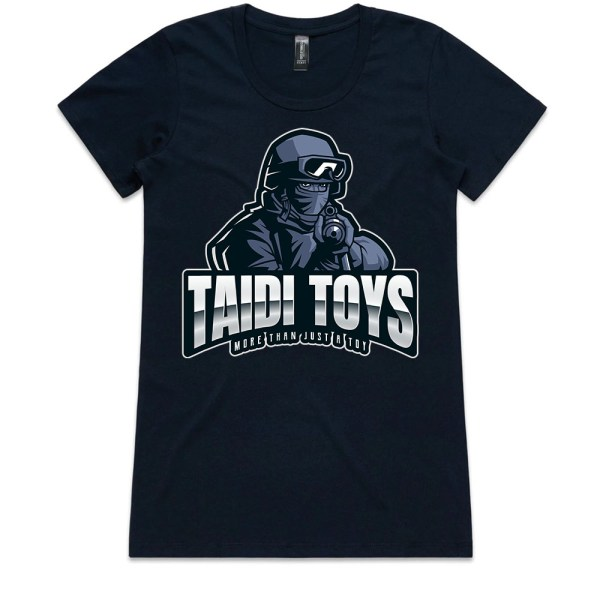 TAIDI More Than Just a Toy SOLDIER Ladies Navy T Shirts