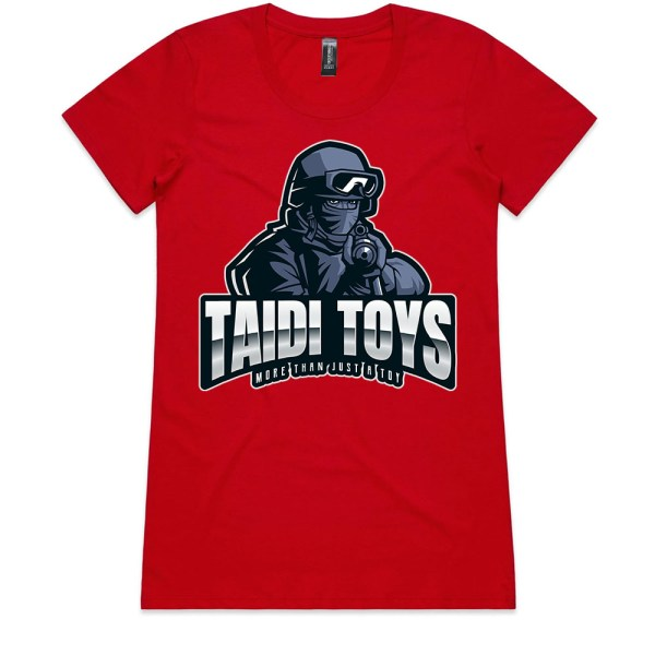 TAIDI More Than Just a Toy SOLDIER Ladies Red T Shirts