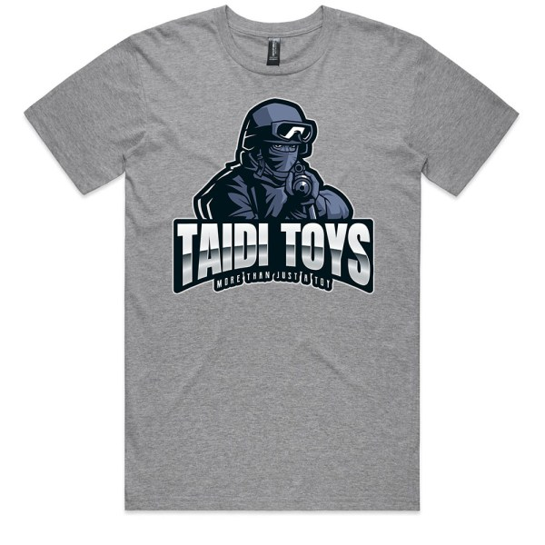 TAIDI More Than Just a Toy SOLDIER Men Grey T Shirts