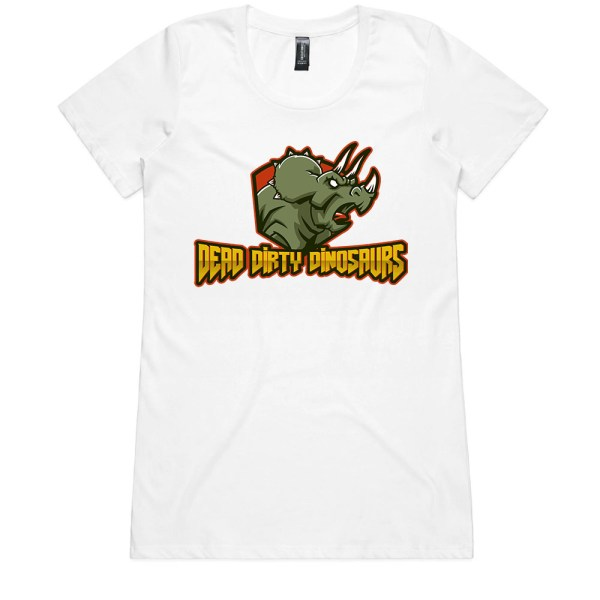 Dead Dirty Dinosaurs 002 Ladies White T Shirts