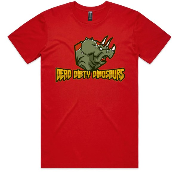Dead Dirty Dinosaurs 002 Men Red T Shirts