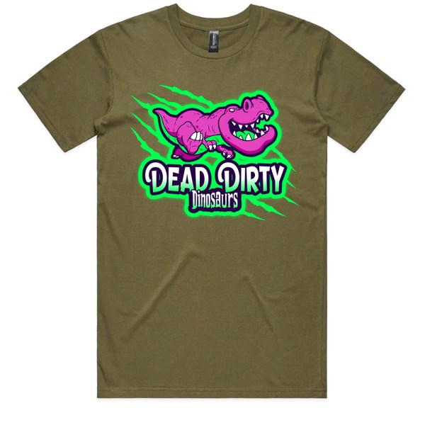 Dead Dirty Dinosaurs 003 Men Army T Shirts