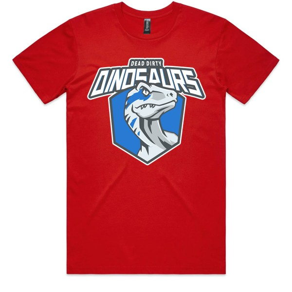 Dead Dirty Dinosaurs 007 Men Red T Shirts