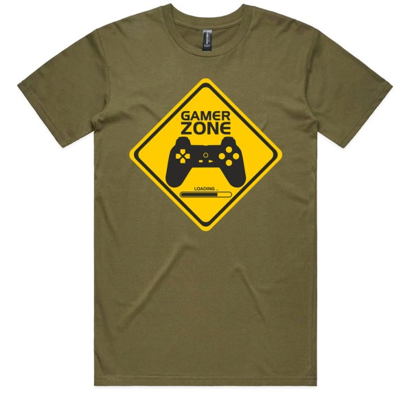 Gamer Zone Loading Men Army T Shirts