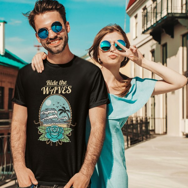Ride the Waves Men T Shirts