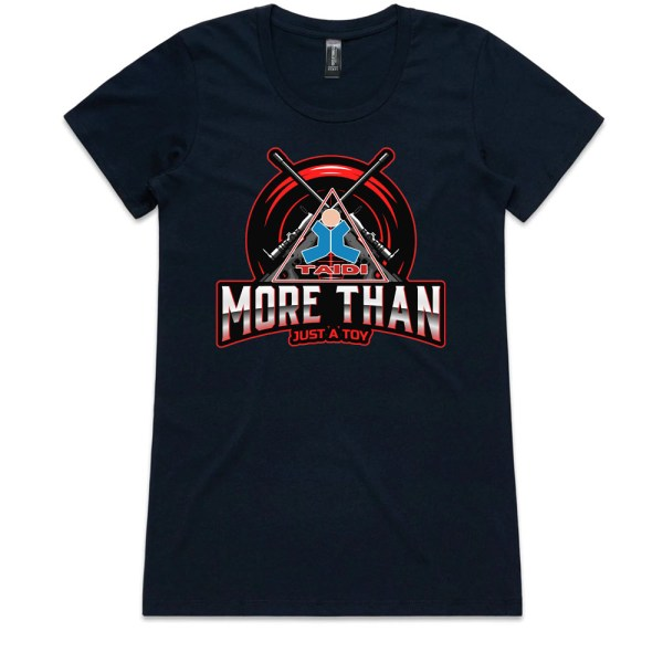 TAIDI More Than Just a Toy Crest Ladies Navy T Shirts