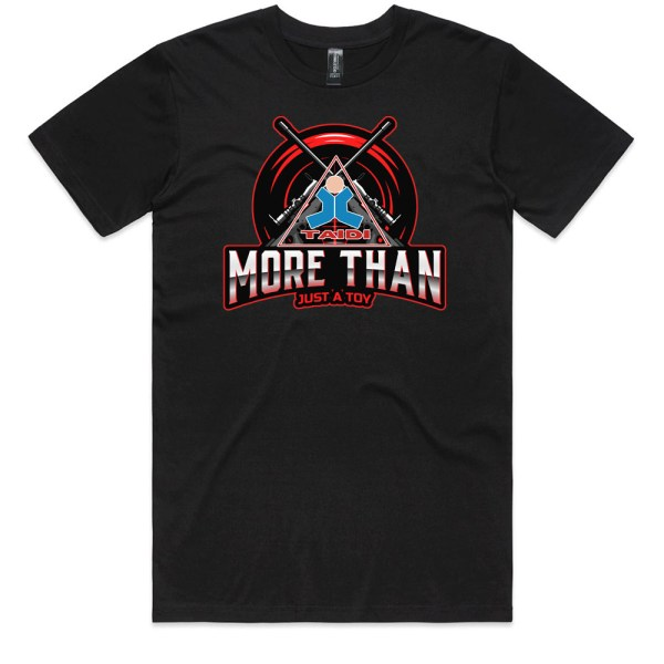TAIDI More Than Just a Toy Crest Men BlackT Shirts