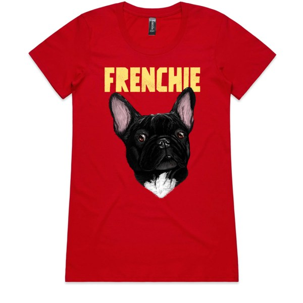 Frenchie Ladies Red T Shirts