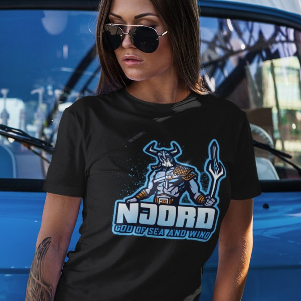 Njord God of Sea and Wind Ladies T Shirts