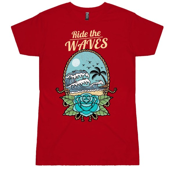 Ride the Waves Ladies T Shirts