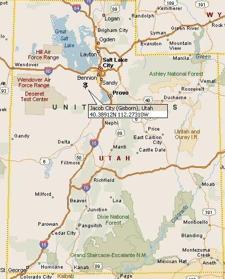 Utah County Map Cities