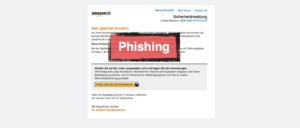 Warnung Amazon E-Mail Spam Phishing Sicherheitsmitteilung