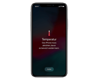 Sommer Hitze Temperatur iPhone