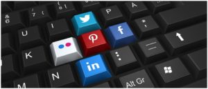 Symbolbild Soziale Netzwerke Facebook Twitter